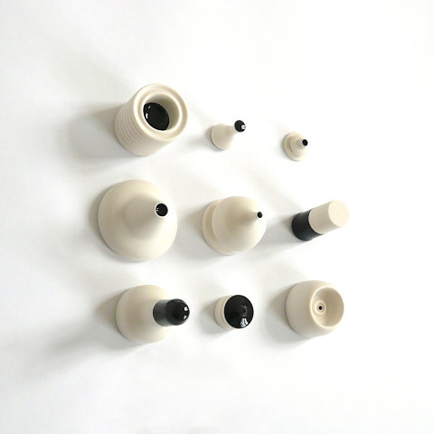 Porcelain Drawing #02 Unglazed and Black 09 <br> Collection of the artist